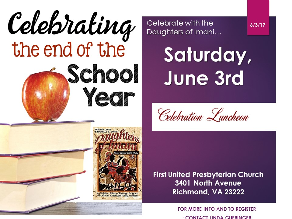 End of School Year Celebration Luncheon